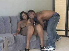 Horny black bbw Skyy Black her two fuckbuddies engage in an exciting threesome in this scene. She got her holes simultaneously crammed by hard cocks in this scene. She lies down on the couch and gets her fat cooter fucked while giving her other hotti